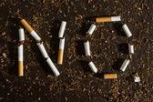 Negative tobacco concept — Stock Photo