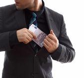 Money thief — Stock Photo