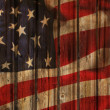 The USA flag painted on wooden pad — Stock Photo #45580675