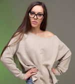 Young girl wearing glasses — Stock Photo