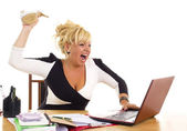 Kvinnliga företag — Stockfoto
