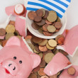Broken Piggybank — Stock Photo