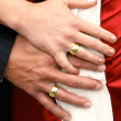 Stock Photo: Wedding Hands with Rings