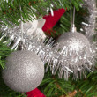 Christmas tree decoration on a fir — Stok fotoğraf