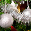 Christmas tree decoration on a fir — Stock Photo