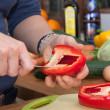 Cut a Paprika - Stock Photo