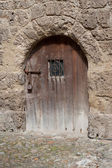 Old iron fitted Door — Stock Photo