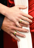 Wedding Hands with Rings — Stock Photo