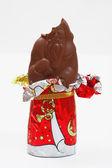Bitten chokolate saint nicholas — Stock Photo