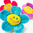Three smiling flowers — Stock Photo