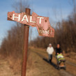 Stock Photo: Halt, End of the way