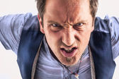 Angry man — Stock Photo