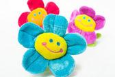 Drie lachende bloemen — Stockfoto