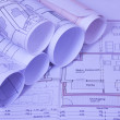 Blueprints of a house — Stock Photo