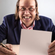 Manager with Blank contract — Stock Photo #20983845