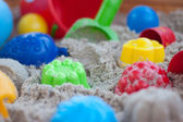 Equip in a sandbox — Stock Photo