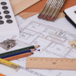 Blueprint of a house — Stock Photo #21742541