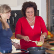 Two women are cooking — Stock Photo