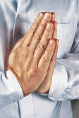 Praying hand — Stock Photo