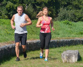 Two are jogging — Stock Photo
