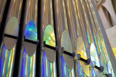Pipes of Organ in Church — Stock Photo