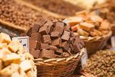 Peaces of chokolate — Stock Photo