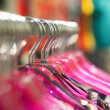 Hanger fot clothes in a row — Stock Photo