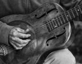 Guitar player detail — Stock Photo