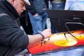 Pintor, artista de rua em baceelona — Fotografia Stock