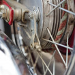 Stock Photo: Spokes on wheel