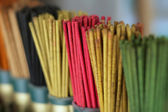 Colored joss sticks — Stock Photo