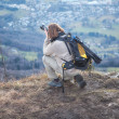Photographer in the Mountain — Stock Photo