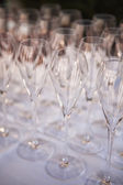Champagne Glasses in a row — Stock Photo