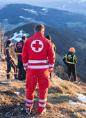 Rescue Service in the Alps — Stock Photo