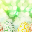 Stock Photo: Easter Egg with light bokeh