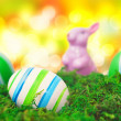Easter eggs in Front of bokeh — Stock Photo #39951289