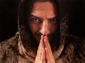 Praying Monk — Stock Photo