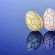 Two easter Eggs with cracks — Stock Photo