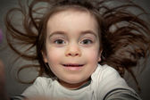 Cute child with wild hairs — Stock Photo