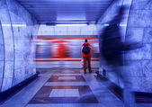 Motion In the subway — Stockfoto