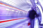 Motion picture in the subway — Stock Photo