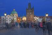 Charles Bridge in Prag on Evening — Stock Photo