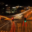 Long time exposure of a busy street in prague — Stock Photo #43572389