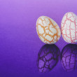 Two easter Eggs with cracks — Stock Photo #43572461