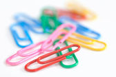 Multicolored Paperclips — Stock Photo