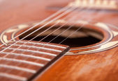 Close up of a old western guitar — Stock Photo