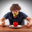 Gagged man wants to eat — Stock Photo #49233439