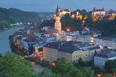 Night view of Burghausen — Stok fotoğraf