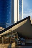 Modern roof above Warszawa Ochota Railway Station — Stock Photo