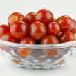 The salad bowl with marinated tomatoes — Stock Photo